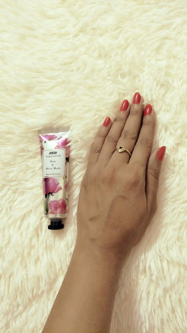 Nykaa Whipped With Love Hand And Nail Cream Review Rose And White